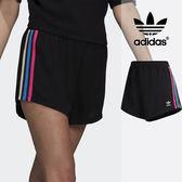 【GT】Adidas Originals 黑 短褲 女款 運動 休閒 復古 彈性 熱褲 愛迪達 三葉草 三條線 Logo DH4187