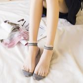襪子女短襪夏薄透明水晶襪淺口船襪花邊襪