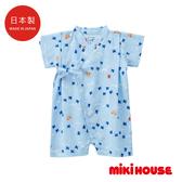 MIKI HOUSE 千鳥紋和風浴衣