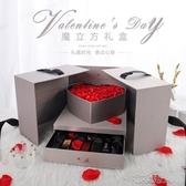 禮物盒 禮品盒ins口紅禮盒包裝盒空盒子大號高檔驚喜精美韓版生日禮物盒 布衣潮人