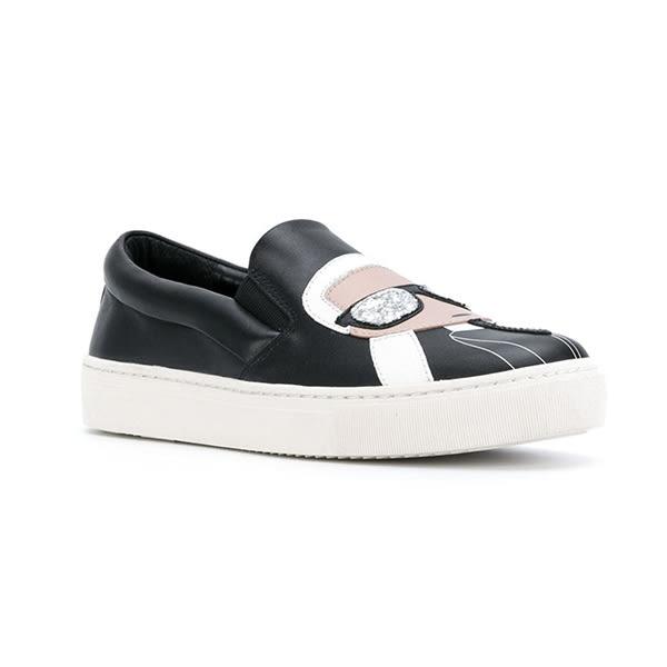 Karl Lagerfeld 卡爾 老佛爺 女鞋  KUPSOLE Q版樂福鞋-黑