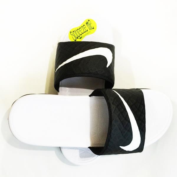 (特價) NIKE拖鞋 Wmns Benassi Solarsoft 黑白配 705475-010 流行海灘鞋百搭時尚情侶鞋休閒男女鞋 【代購】