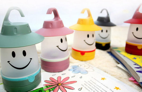 創意兒童笑臉燈 臥室可懸挂小夜燈