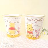 【日貨圓形收納桶Fuzzy Pooh維尼小豬】Norns 迪士尼正版 小熊維尼 置物桶垃圾桶