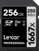 【聖影數位 】Lexar 雷克沙 SDXC UHS-II 256G 1667X 記憶卡 V60 U3 C10 讀取250MB/s 寫入90MB/s