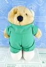 【震撼精品百貨】日本日式精品_熊_Bear~絨毛娃娃-醫生綠
