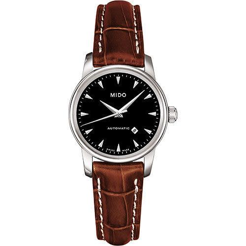 MIDO Baroncelli 經典機械女錶-黑x咖啡/29mm M76004188