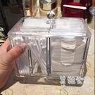 帶蓋防塵亞克力多功能創意時尚透明棉簽盒BS18653 『美鞋公社』