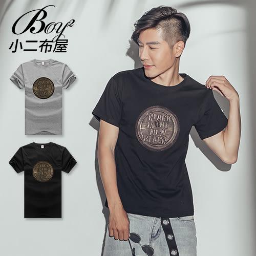 短T 復古圓形立體浮雕BLACK IS THE NEW BLACK短袖上衣【NW628142】
