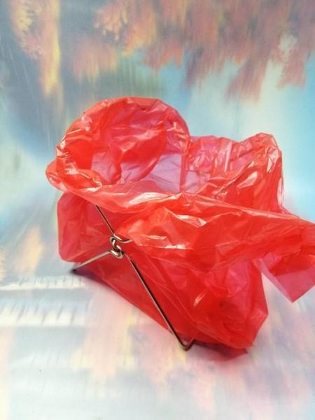 不鏽鋼桌上型垃圾袋支架【LA608】NO135垃圾袋支架 桌上型垃圾桶【八八八】e網購