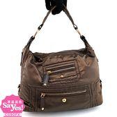 【奢華時尚】秒殺推薦!TODS 古銅金色帆布D Bag肩背包(八成新)#22542