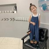 女童韓版時尚寬鬆吊帶牛仔褲