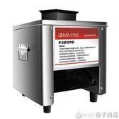 商用切肉機不銹鋼全自動切絲切片機切菜機菜家用小型電動絞肉丁機 (橙子精品)