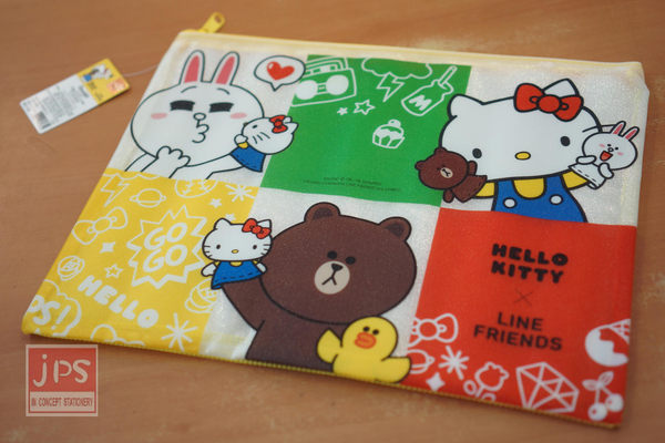 Hello Kitty × Line 磨砂網格袋 (黃)