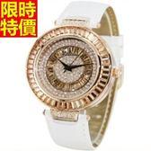 鑽錶-明星同款設計經典款女腕錶3色5j1【巴黎精品】