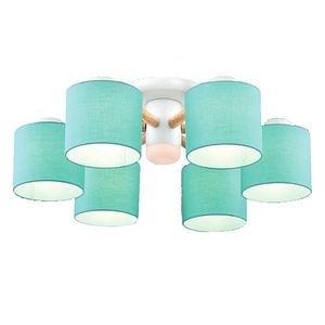 【YPHOME】特價北歐風布罩半吸頂6燈 簡易更換燈泡