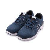 SKECHERS FLEX ADVANTAGE 3.0 綁帶運動鞋 藍白 52957WBLBK 男鞋