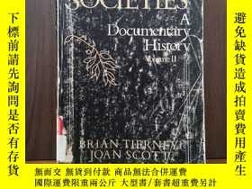 二手書博民逛書店WESTERN罕見SOCIETIES A DOCUMENTARY HISTORY (Volume 2)Y128