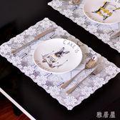 歐式PVC隔熱餐桌墊西餐長方橢圓2個裝mj5582【雅居屋】