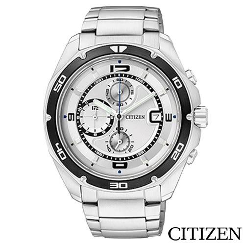 CITIZEN星辰  極限運動三眼計時碼表男仕手錶  AN3440-53A