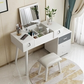 化妝桌臥室梳妝台收納櫃一體小戶型現代簡約北歐化妝台網紅化妝桌子 JD 聖誕節