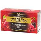 英國《TWININGS 唐寧》四紅果茶包...