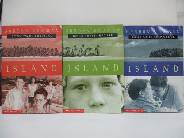 【書寶二手書T9/原文小說_C2L】Island Trilogy: Shipwreck / Survival / Escape_3本合售