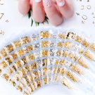 日系6格美甲鍊條 裝飾鍊組合 金屬小鏈條 金銀鎖鏈 珍珠 幻彩鑽 合金鍊條 MD Nails Mall