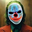 萬聖節道具 小丑LED發光面具萬圣節熒光表演節日演出鬼臉面罩
