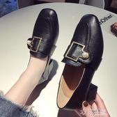 新款秋季粗跟單鞋女英倫風小皮鞋方頭中跟仙女韓版百搭樂福鞋 沸點奇跡