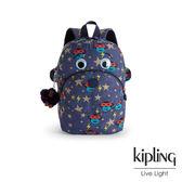 Kipling 閃電眼罩猴後背包-中