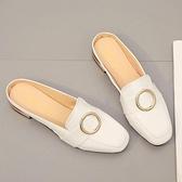 穆勒鞋包頭半拖鞋女外穿韓版軟底百搭時尚穆勒鞋【少女顏究院】