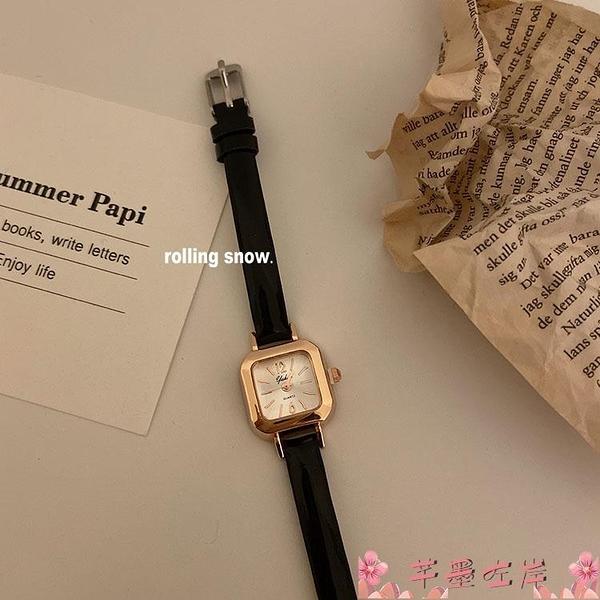 手錶韓國ins風復古手錶女簡約百搭小眾時尚氣質款學生文藝女錶 芊墨 618大促