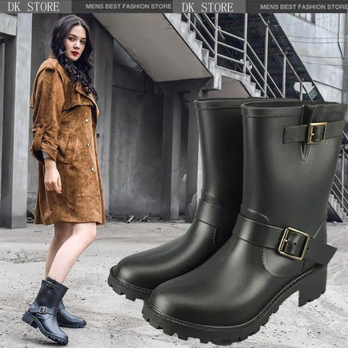 雨鞋 中筒馬丁雨靴套鞋防滑水鞋 DK STORE