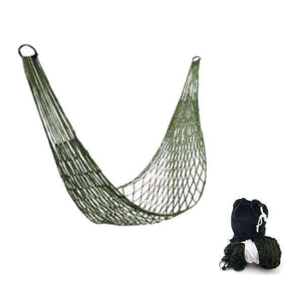 網狀吊床 戶外吊床 單人吊床 附綁繩 20587