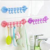 TW鎖扣式強力吸盤6連掛鉤 廚房衛生間浴室壁掛排鉤免釘無痕多用掛鉤