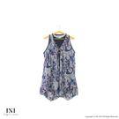 【INI】無袖有型、造型下擺雪紡長版上衣...
