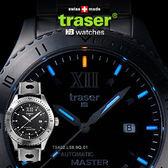 Traser Automatic自動上鏈經典錶橡膠錶帶#100262【AH03024】99愛買生活百貨