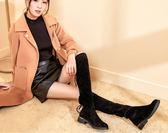 冬季網紅瘦瘦靴粗跟長筒靴百搭過膝長靴瘦腿彈力靴  創想數位