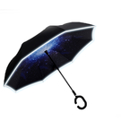 傘霸 升級版夜間反光反向C型雨傘