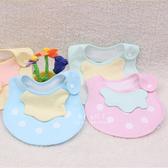 粉嫩色系草莓造型圍兜 圍嘴 口水巾 三角巾