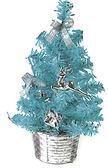 節慶王【X805150】繽紛成品小樹(藍),聖誕樹/聖誕佈置/聖誕燈/會場佈置/材料包/成品樹/小樹