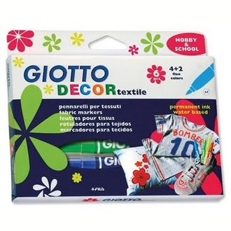 【義大利 GIOTTO】494800  衣物彩繪筆 6色/盒