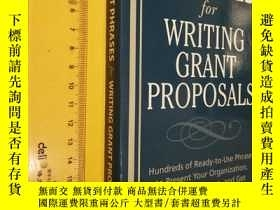 二手書博民逛書店英文原版罕見管理類 Perfect Phrases for Writing Grant ProposalsY7