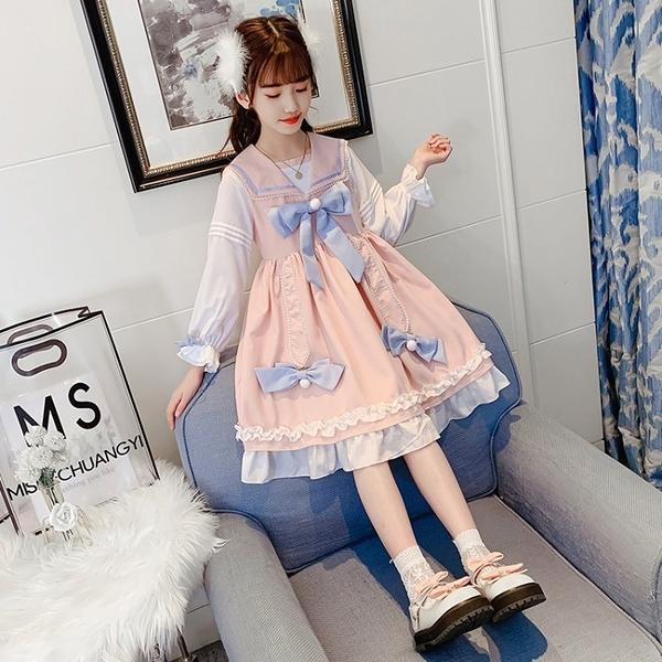 女童洋裝洛麗塔公主裙長袖5春季紗裙夏裝超仙6兒童裝裙子7女孩8 幸福第一站