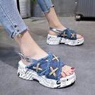 鬆糕涼鞋 涼鞋女2020夏季新款仙女風i...