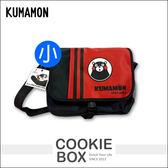 正版 熊本熊 KUMAMON 郵差 側背包 書包 可愛 造型 置物 輕鬆 學生 兒童 上學 (小) *餅乾盒子*