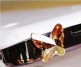 三星huawei通用手機耳機孔防塵塞水晶蝴蝶