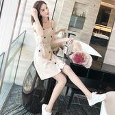 吊帶裙女夏學生韓版小清新外穿裙子2018夏季新款小個子高腰連身裙 艾尚旗艦店