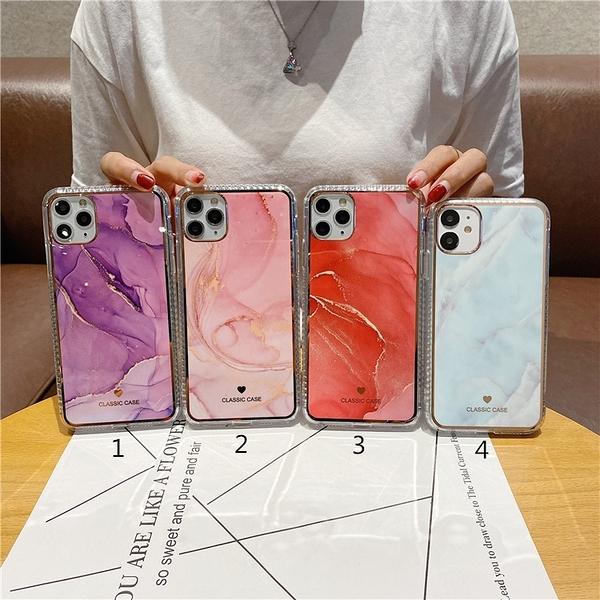 紫色大理石紋適用8plus蘋果12promax手機殼iphone11軟xs防摔xr女